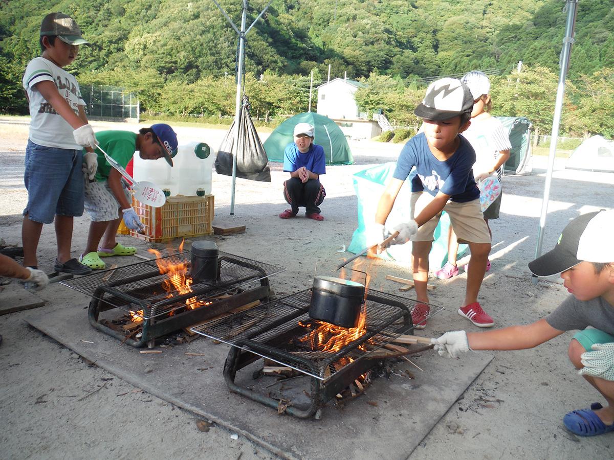 若狭路まるごとキャンプ/活動/食事作り